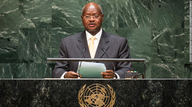 Yoweri Museveni, President of Uganda, has been in power since 1986.