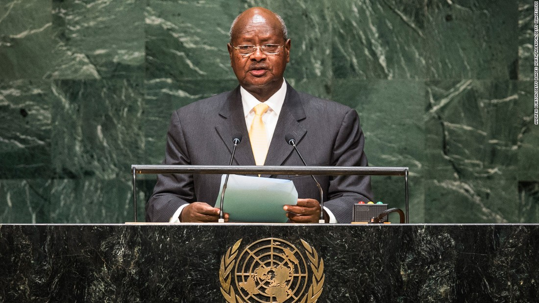 Yoweri Museveni, President of Uganda, has been in power since 1986.