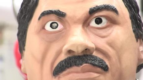 cnnee pkg romo drug lord mask chapo halloween _00015206