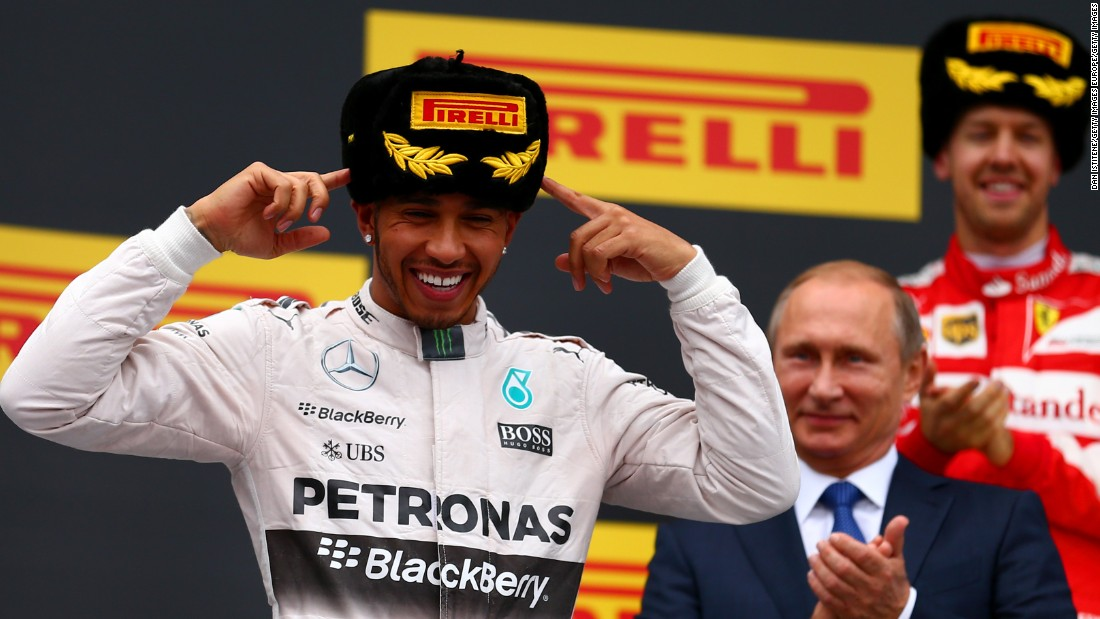 "Hamilton <a href=""https://twitter.com/LewisHamilton/status/653470320213512194"" target=""_blank"">said on his Twitter page that he ""loved"" the Ushanka fur hat</a>, which carried the logo of F1's tire sponsor Pirelli. The Italian company has reportedly won the tender to extend its contract for another three years."