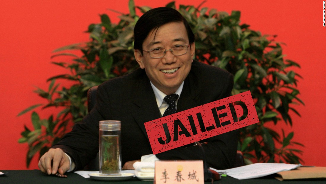 Li Chuncheng, a former high-ranking official in Sichuan province, was sentenced to 13 years in jail for bribery and abuse of power. Both Li and Jiang were reported to have close ties to Zhou Yongkang, the highest-ranking Chinese official to fall foul of President Xi Jinping's corruption campaign so far.