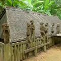 central vietnam 12 Giarai tomb, Museum Ethnology Hanoi