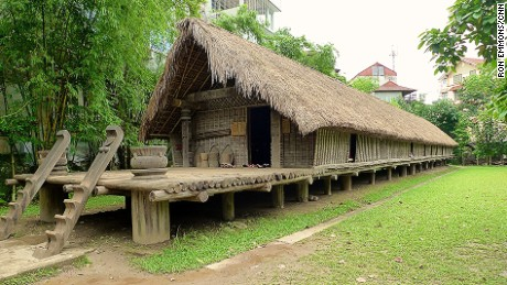 The structures of Vietnam's Central Highlands are exhibited in the Vietnam Museum of Ethology in Hanoi. This longhouse is part of the museum.