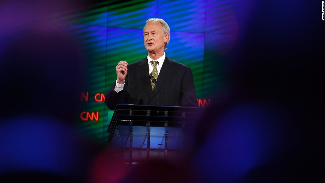 "Chafee touted his experience, saying he is the only candidate who has been a mayor, senator and governor. ""I have had no scandals. I've always been honest. I have the courage to take the long-term view, and I've shown good judgment,"" he said in his opening statement."