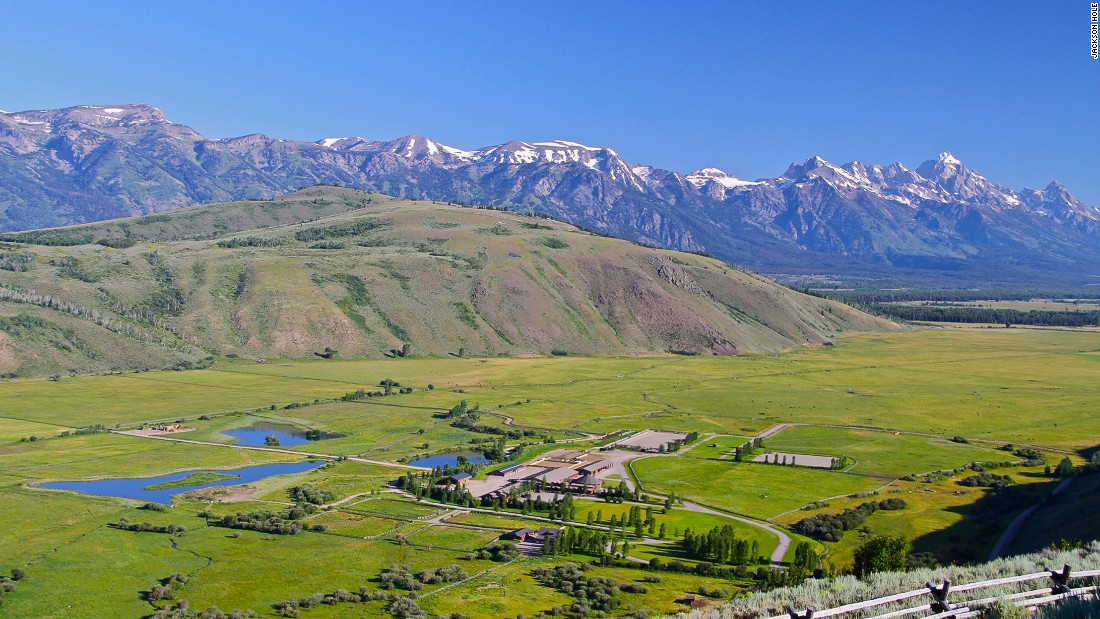 Jackson Land and Cattle comes with 563 acres of land and with views looking out onto the Grand Teton mountain range in the Rocky Mountains.
