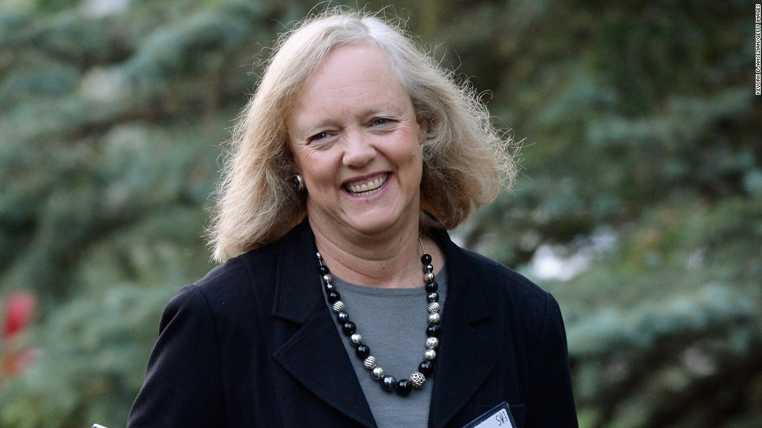 Meg Whitman, president and chief executive officer of Hewlett-Packard, was a two-sport athlete in college. She played on the lacrosse and squash teams at Princeton.