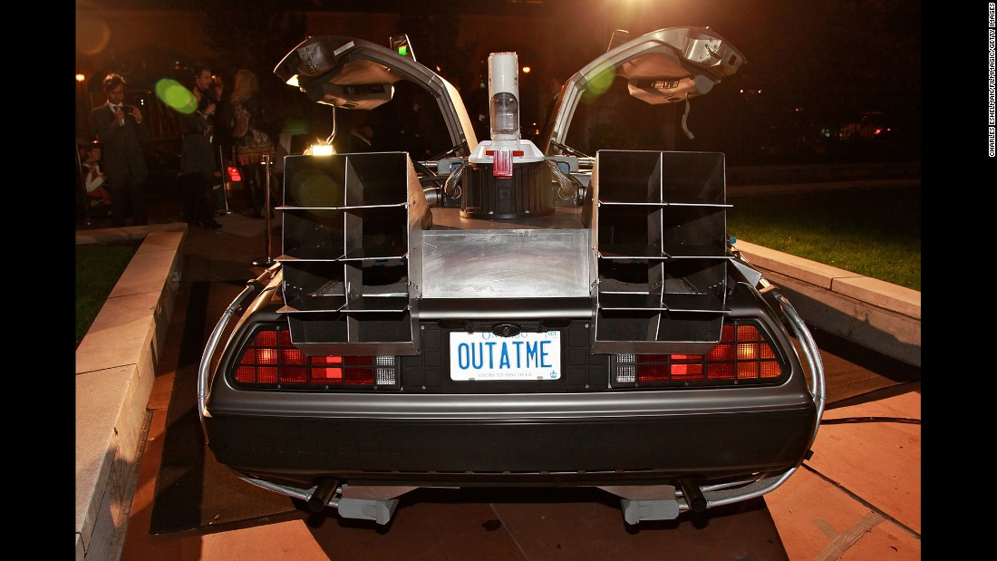 No DeLorean time travel machine is complete without a signature 'outatime' license plate.