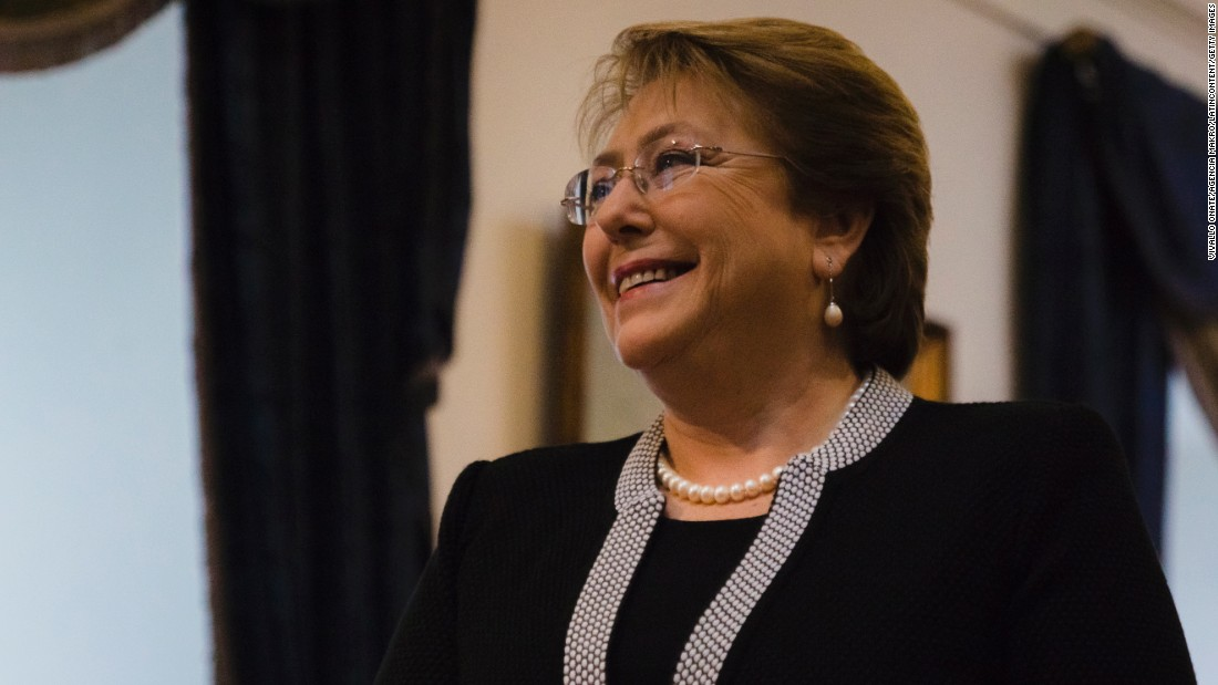 Michelle Bachelet, the first female president of Chile, played volleyball in high school.