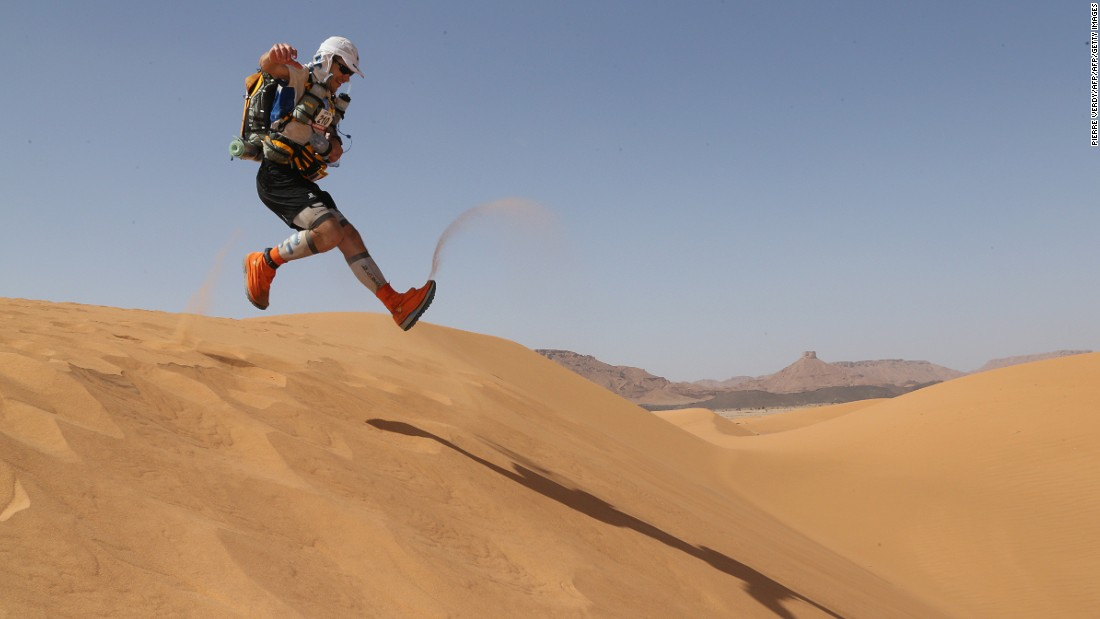 Taking place in the Moroccan Sahara Desert, the Marathon des Sables is a grueling six-day trek underneath the burning sun. The 254-kilometer race is one of the most unforgiving in the world.