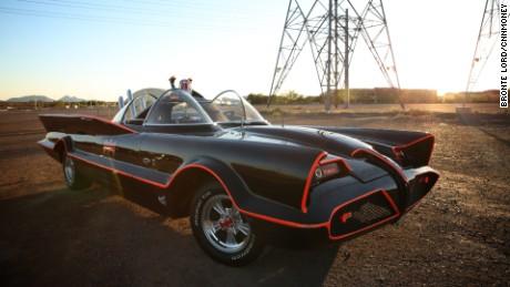 Driving the original Batmobile