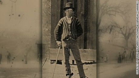 A rare tintype photograph of Billy the Kid and what appears to be Billy and members of his gang, The Regulators playing croquet in Lincoln County, New Mexico in 1878.  (Photo Credit: Courtesy of Randy Guijarro)