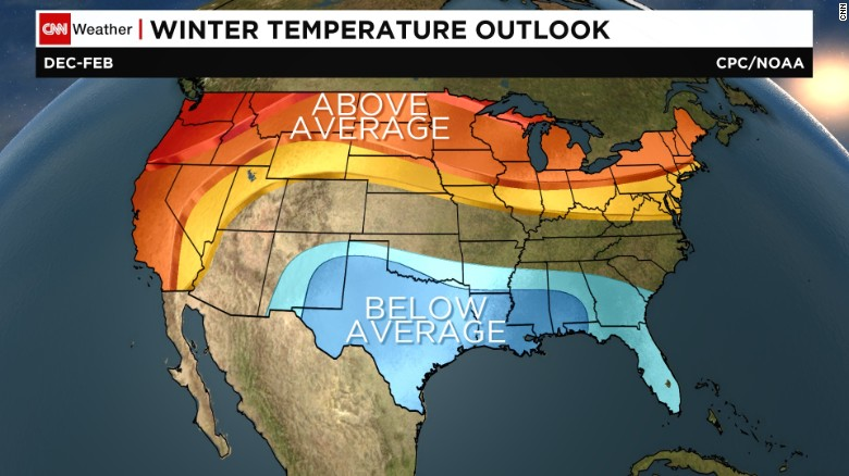 NOAA Winter Forecast Snowy Northeast Rainy Relief For California - Us winter forecast map