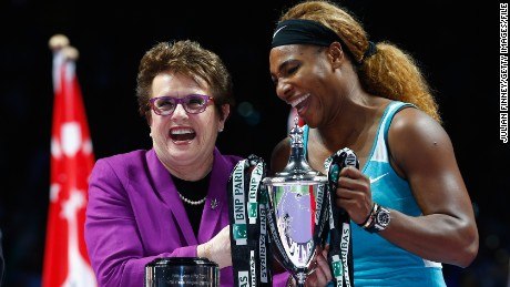 Billie Jean King: 'Women have to stick up for themselves and fight'