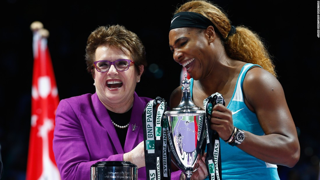 "King says there is still some way to go to alter attitudes in tennis. She told CNN a New York Times article on the body shape of world No.1 Serena Williams this year drove her crazy: ""So what? stop evaluating us. I mean, she is probably the all-time great. So stop it. Talk about her accomplishments."""