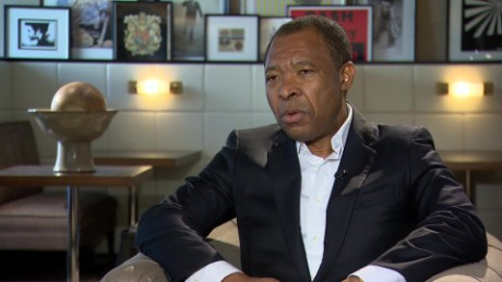Okwui Enwezor at Frieze Art Fair tomkins pkg_00011404