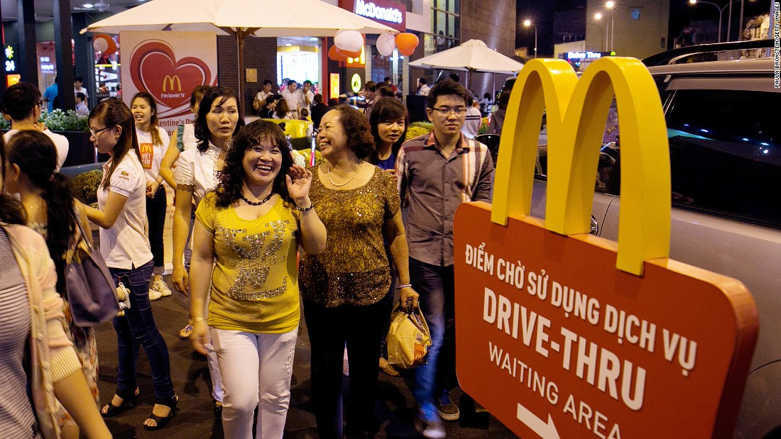 Vietnam has opened its doors to some international conglomerates. Vietnam's first McDonald's opened in Ho Chi Minh City in 2014, serving over 400,000 people in its first month, while the country's first Starbucks opened here in 2013.