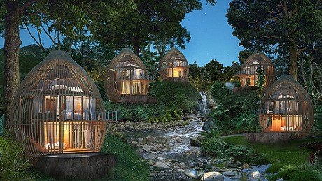 Sorry kids, these treehouses are for adults only.