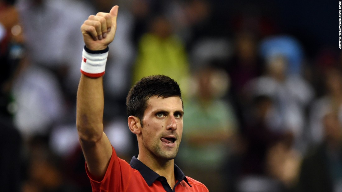 Djokovic will now face Jo-Wifried Tsonga of France in Sunday's final.