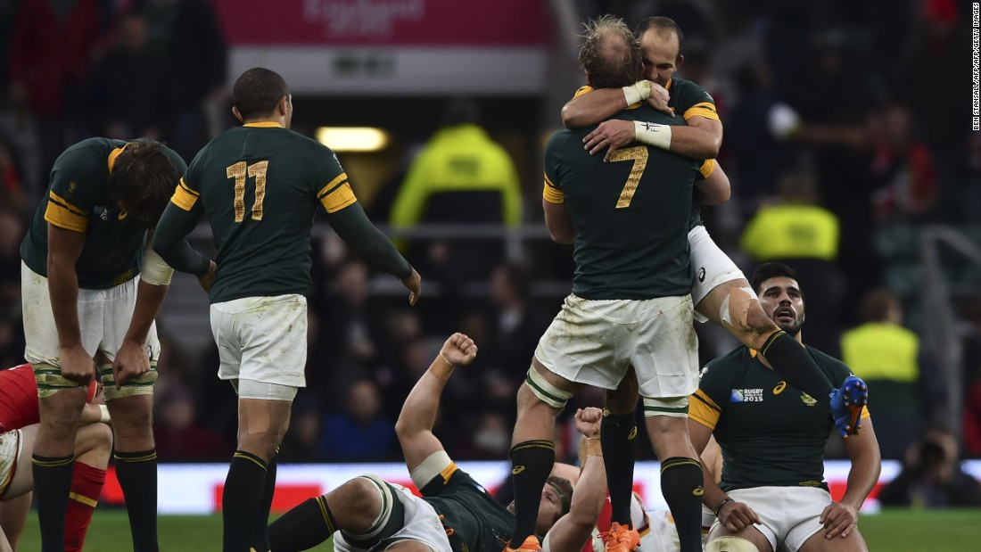 South Africa defeated Wales in Saturday's early quarter final.<br />