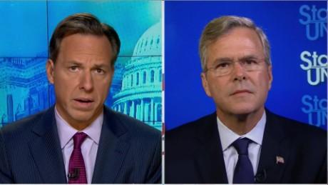SOTU Tapper: Jeb Bush slams Trump for 9/11 remarks_00015313