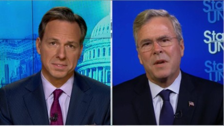 "SOTU Tapper: Jeb Bush: Rubio ""misled"" on fundraising numbers_00001807.jpg"