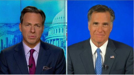 SOTU Tapper: Romney: I'm Glad I'm Not in this Race _00000312