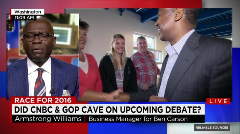 Ben Carson aide explains demand for shorter debates
