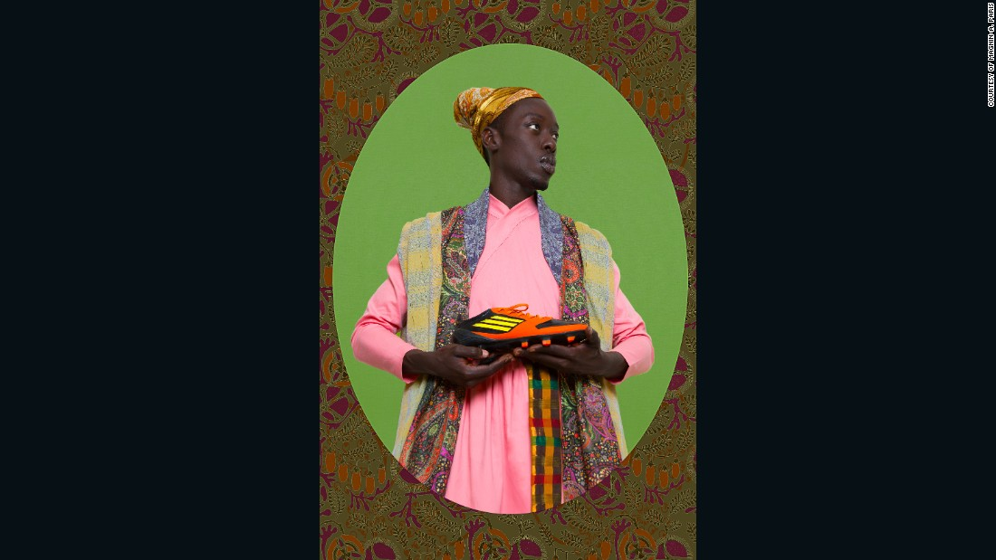 "<em>Ikhlas Khan, Diaspora series, 2015</em><br /><br />""His body of work in the series Project Diaspora interrogates notions of migration and return through revisiting the cultural, social and political complexities of slavery, its abolition and its continuing presence in shaping notions of identity. Diop asks ""How do you define the notion of Africanness if you walk away from it?"""