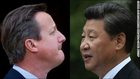 UK Prime Minister David Cameron and Chinese President Xi Jinping