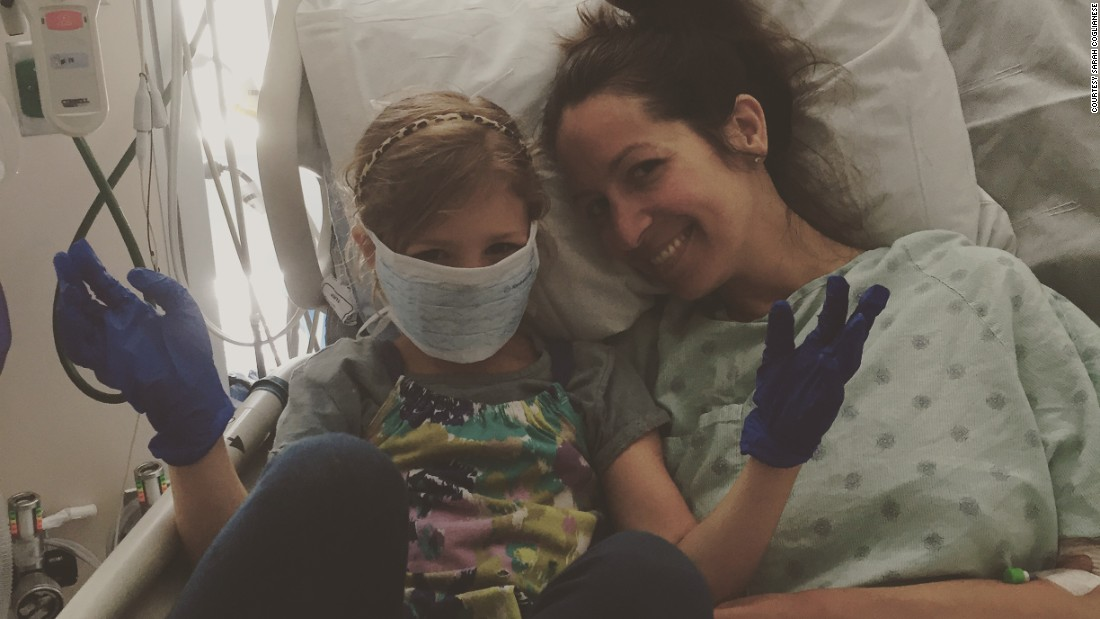 In June 2015, Coglianese was in the ICU for three days with pneumonia, which is typical for ALS patients. Scarlett came to visit and wore a mask and gloves.