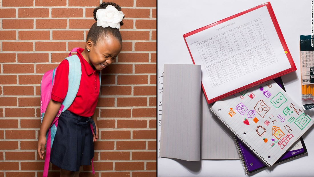 "CNN asked dozens of Atlanta students to open up their backpacks and reveal: What, exactly, is in those big, heavy bags? Here's what we found.<br /><br />Clarke, a kindergarten student at KIPP STRIVE Primary, said her favorite subject is ""playing outside and learning stuff."""