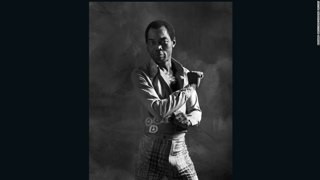 "<a href=""http://fela.net/about/fela-obituary/"" target=""_blank"">Fela Kuti</a> is widely regarded as the pioneer of Afrobeat. Born in Nigeria in 1938, he sang throughout the sixties and seventies with his band Africa '70."