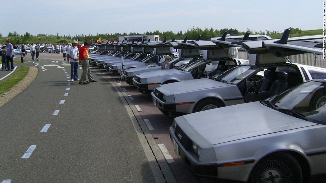 Members from the DeLorean Owners Club UK (DOC) gather for a rally at the Gaydon Motor Heritage Centre. DeLoreans, manufactured in Belfast, but primarily intended for the American market, were for the most part, left-hand drives. DOC club historian Chris Parnham estimates 150 DeLoreans (right-hand drives) remain in the UK.