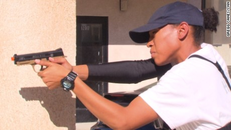 Asia Hardy trains to become an LAPD officer at a time when many in the black community are struggling with perceptions of police.