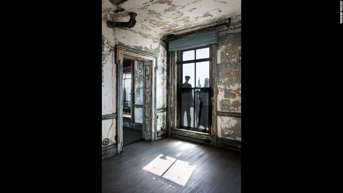 "The ""Unframed - Ellis Island"" project was a series of installations built within abandoned buildings on Ellis Island. Located next to the Statue of Liberty in New York, the island acted as an entry point into America for millions of immigrants from 1892 to 1954."