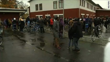 Swedish police say the death toll after an attack at a school is now three: the perpetrator, a teacher and a student, they say. Also sots with a pupil.