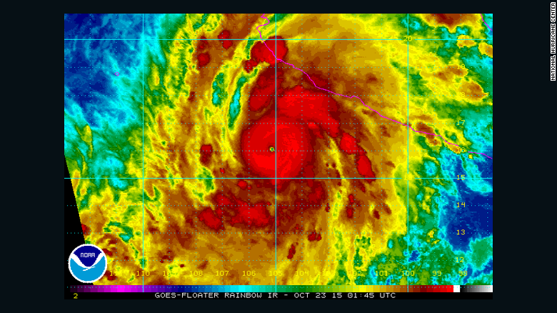 Hurricane Patricia now a Category 5, heading for Mexico
