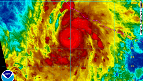 Hurricane Patricia packed maximum sustained winds of 160 mph late Saturday, a Category 5 hurricane