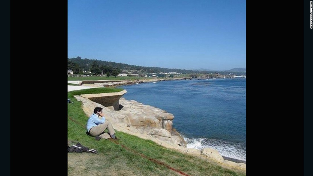 "CNN anchor <a href=""https://instagram.com/cnnpatrick/"" target=""_blank"">Patrick Snell </a>was lucky enough to visit the world famous Pebble Beach -- but he didn't get the chance to have a round. ""Now I definitely want to play it!"" he said, adding it to his bucket list."