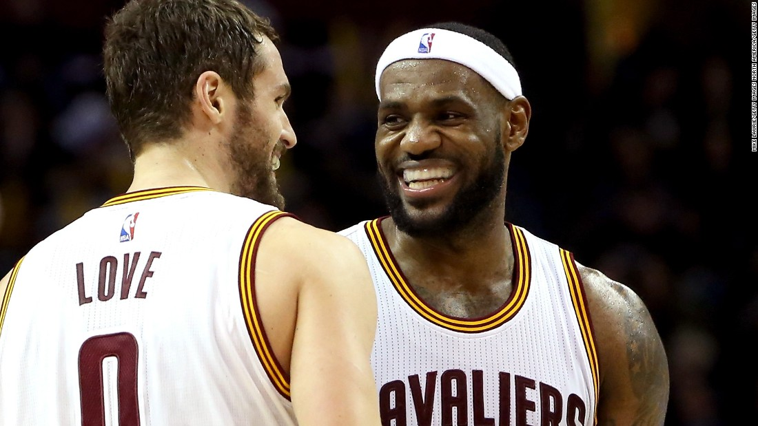 LeBron James and Kevin Love are smiling all the way to the bank, as two of the highest-paid players in the NBA this season. The NBA boasts the highest average salary of any team sport in the world, at $4.7 million. Here are the top 20 earners in the league, ranked in ascending order (source: basketball-reference.com). **Note: Anthony Davis, who is not yet in the top 20, has the largest guaranteed contract at $126.6 million for six years.