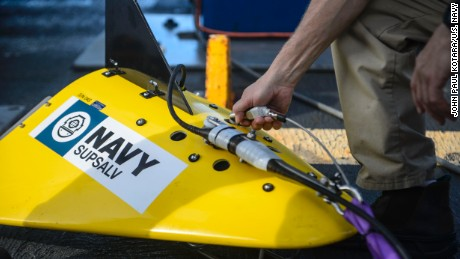 The Navy's tow pinger locater that is searching for El Faro's 'black box'