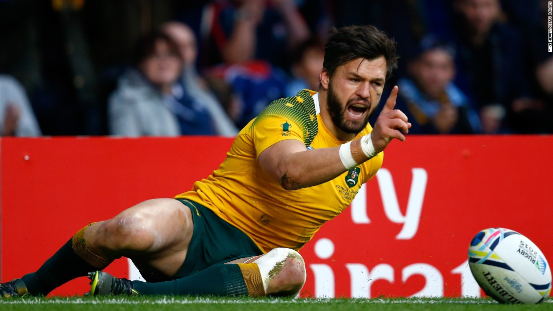 Adam Ashley-Cooper helped himself to a stunning hat-trick of tries in Australia's 29-15 semifinal win over Argentina at Twickenham.