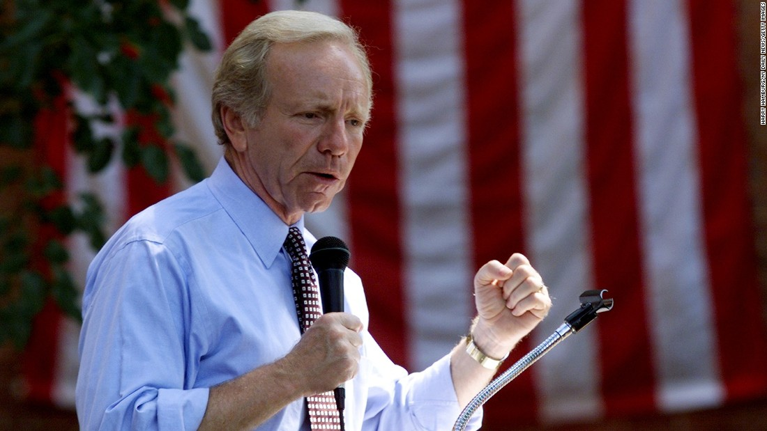 "<strong>Then: <a href=""http://www.cnn.com/2013/03/18/us/joseph-lieberman-fast-facts/""></strong>Joe Lieberman</a>, then a U.S. senator from Connecticut, was the Democratic candidate for vice president. He was the first Jewish candidate on a national ticket."
