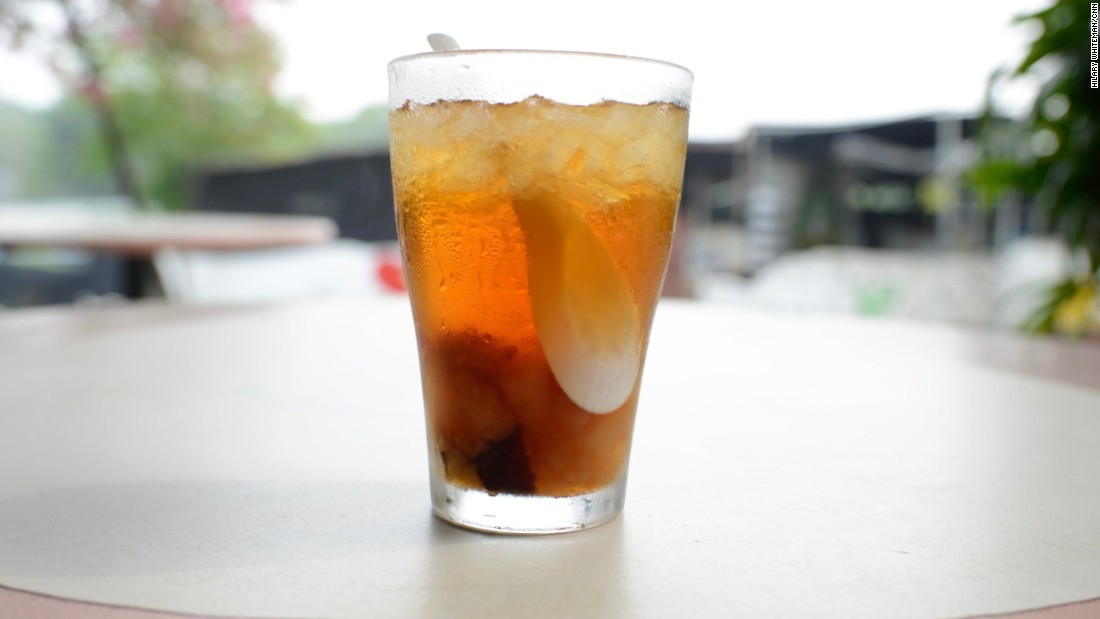 This refreshing drink is made from a mixture of dried fruit and female frog reproductive organs, called hashima. Once soaked, the hashima is boiled with dried fruit and used to create this Royal Hashima Dessert.