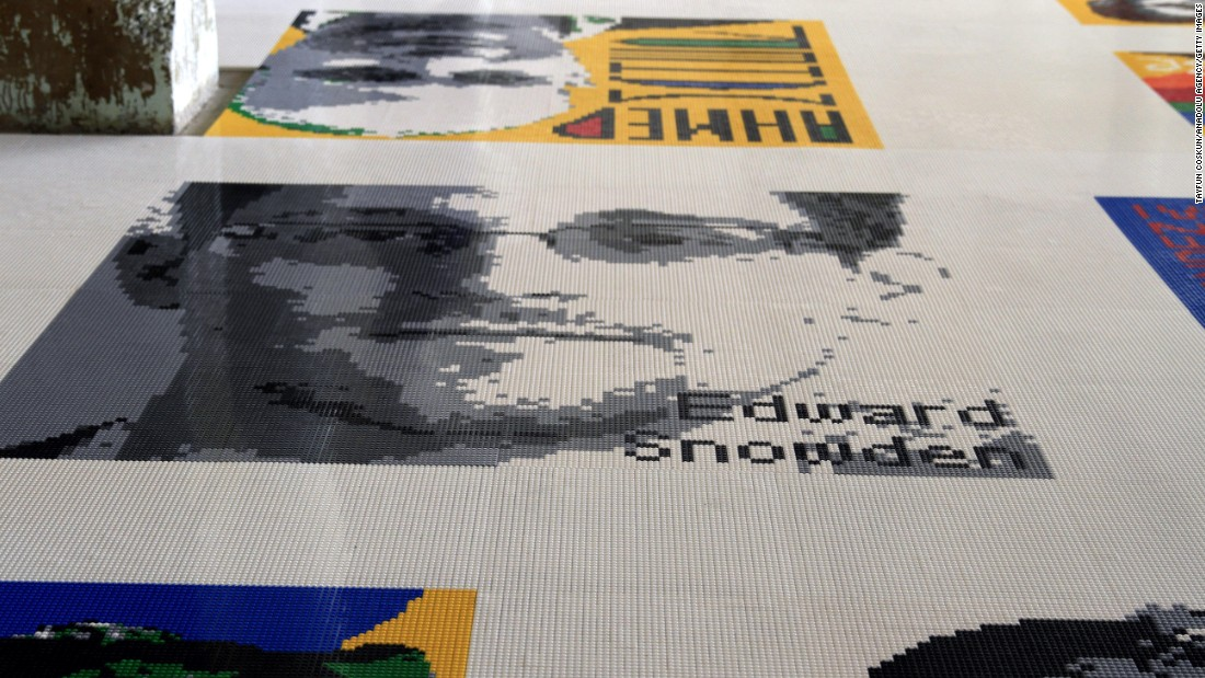 "This isn't the first time Ai has created art using LEGO. ""Trace,"" was exhibited on Alcatraz Island. The installation features 176 colorful portraits made of LEGO bricks representing individuals who have been imprisoned or exiled because of their beliefs."