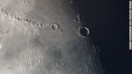 Moon close-up taken by Entoto Observatory telescopes.