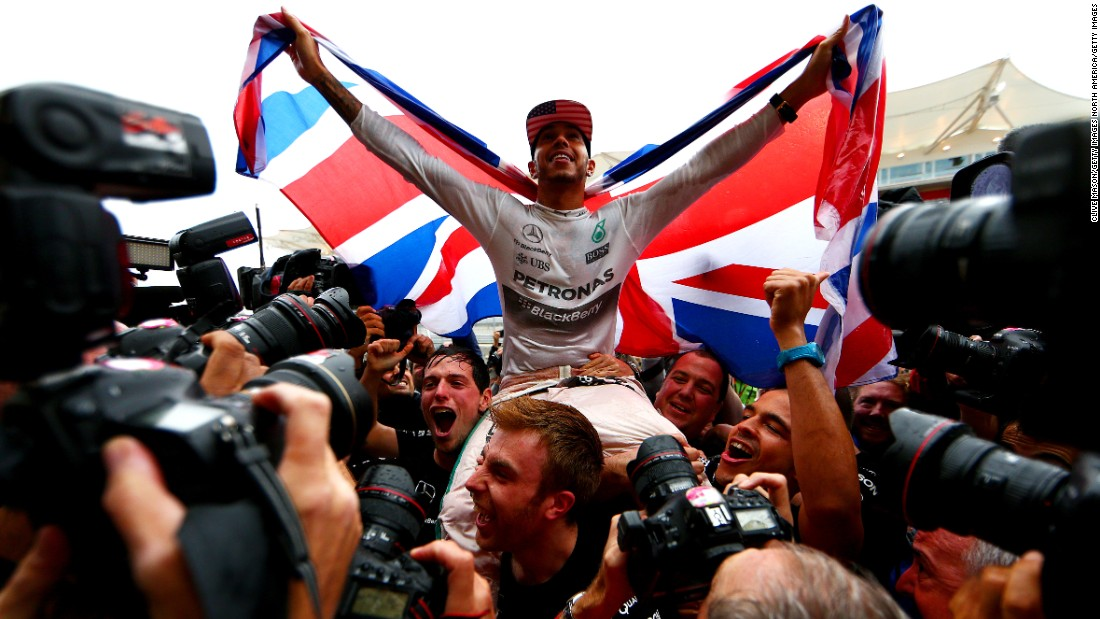 Hamilton is only the 10th driver in history, and the first Briton since Sir Jackie Stewart in 1973, to become a three-time world champion. The first of Great Britain's 15 world champions to claim back-to-back crowns, he joins Stewart, Jack Brabham, Niki Lauda, Nelson Piquet and Ayrton Senna on three titles, with only Michael Schumacher (seven), Juan Manuel Fangio (five), Alain Prost and Vettel (both four) having achieved more success.
