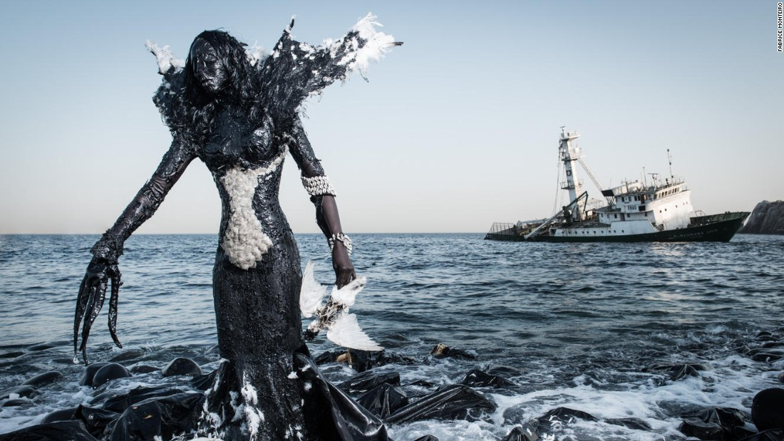 "Since ""The Prophecy"" was unveiled, the series has prompted an immediate positive environmental response in Dakar. According to Monteiro: ""The slaughterhouse of Dakar was previously dumping waste directly in to the ocean, but has stopped that practice since the release of this picture."""