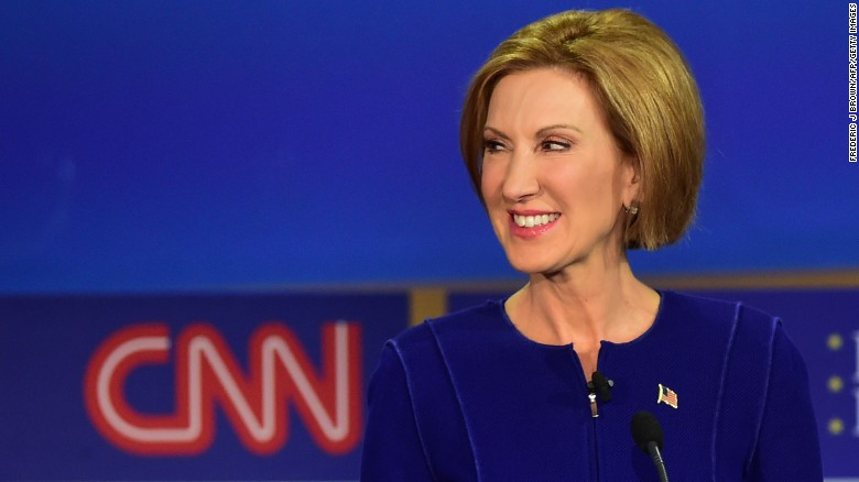 Carly Fiorina in debate mode