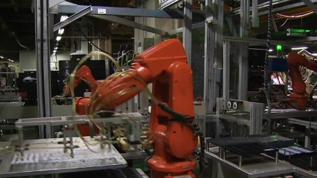 Robots take over factory floors